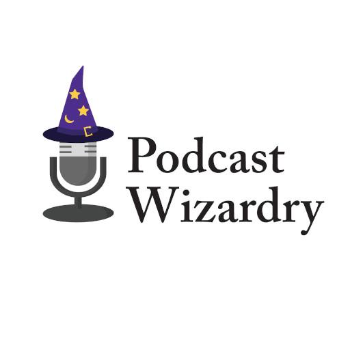 Microphones Logo Podcast Wizardry